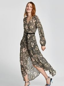 Zara High-Low Dress with embroidery